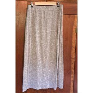 Loft petite large maxi skirt soft gray